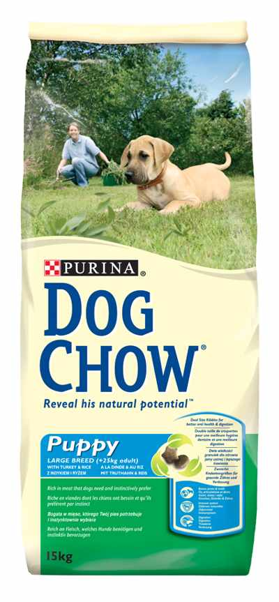 DOG CHOW PUPPY LARGE BREED PAVO 14KG