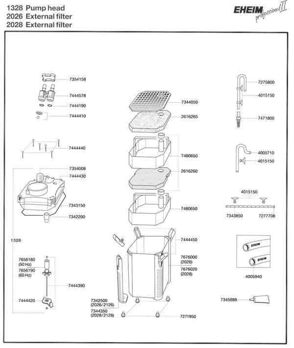 EHEIM 2026-2028 SPARE PARTS