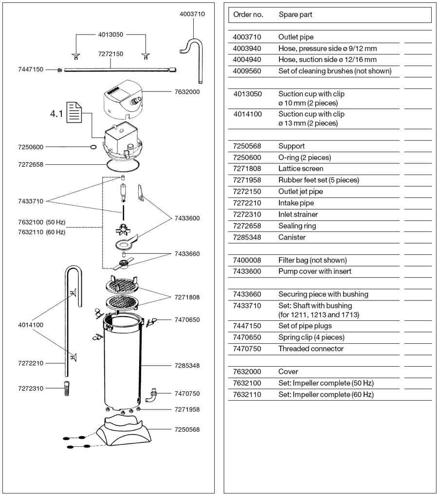 EHEIM CLASSIC 150 SPARE PARTS