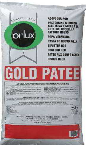 ORLUX PROFI GOLD PATEE CANÁRIOS ROJA  25 KG